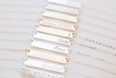 Always Bar Necklace | Sentimental Jewelry, variety view