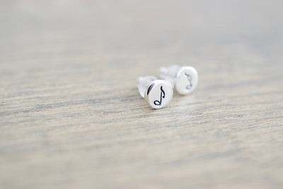 Music Note Stud Earrings