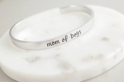 Mom of Boys Bracelet