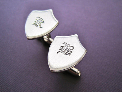 Personalized Shield Cuff Links