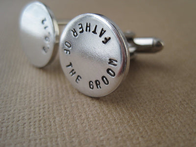 Father of the Groom Cufflinks, side view