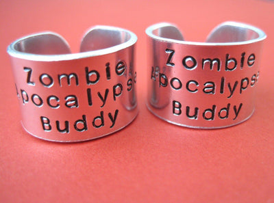 Zombie Apocalypse Buddy Ring Set