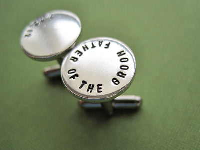 Father of the Groom Cufflinks, view from right