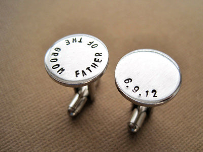 Father of the Groom Cufflinks, close up