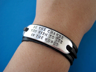 Family Tree Bracelet | Hand Stamped Bracelet, On Wrist