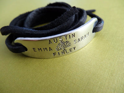 Family Tree Wrap Bracelet | Custom Bracelet