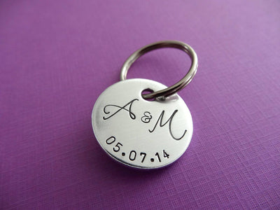 Personalized Keychain, purple background
