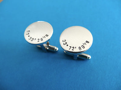 Coordinates Cufflinks | Men's Accessories