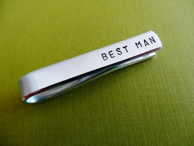 Best Man Tie Clip close up