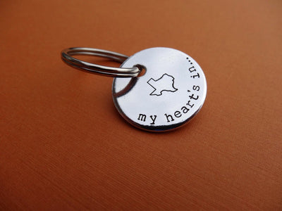 My Heart's In Texas Keychain