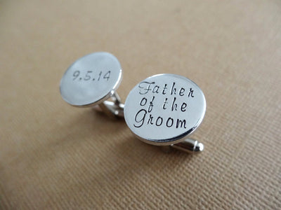 Wedding Cufflinks, Tan Background
