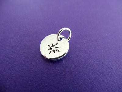 Rose Compass Charm