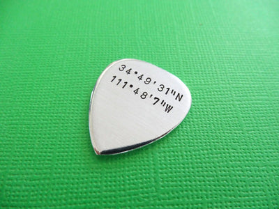 Coordinates Guitar Pick | Musician's Gift