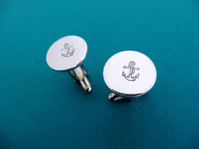 Anchor Cufflinks | Nautical Cufflinks, zoomed out