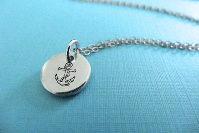 Anchor Necklace, closeup