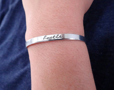 Hustle Bracelet, modeled on wrist