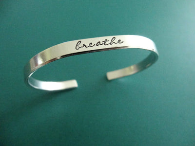 Breathe Bracelet, standing on side
