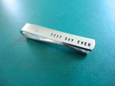 Best Day Ever Tie Clip Alternate angle