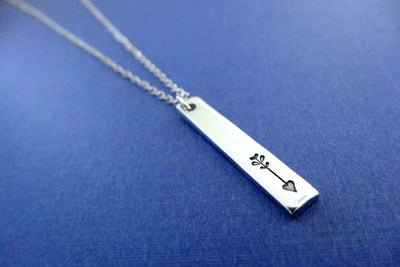 Arrow Necklace, side view