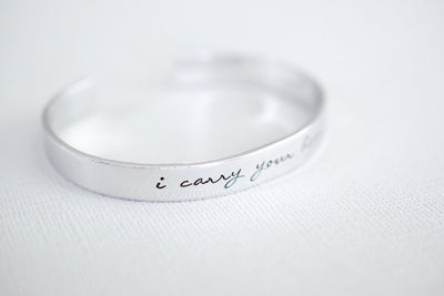 I carry your heart Cuff Bracelet , alternate angle