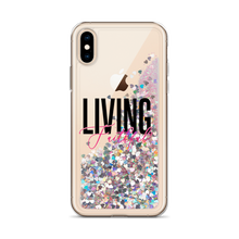 Load image into Gallery viewer, Living Faithful Liquid Glitter Phone Case