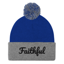 Load image into Gallery viewer, Faithful Pom-Pom Beanie