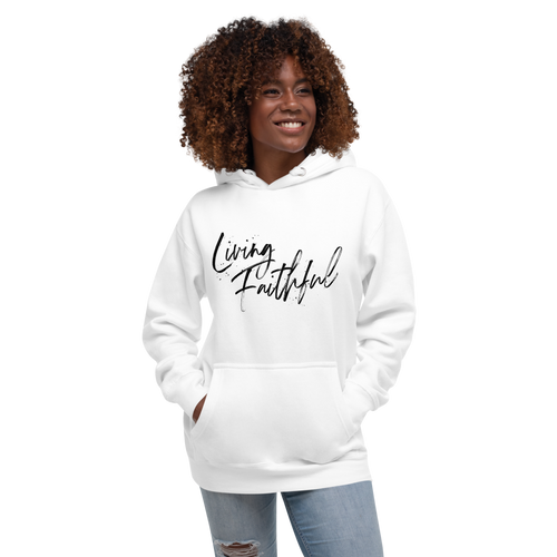 Living Faithful Black Lettering Women's Hoodie