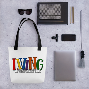 Living Faithful Tote Bag