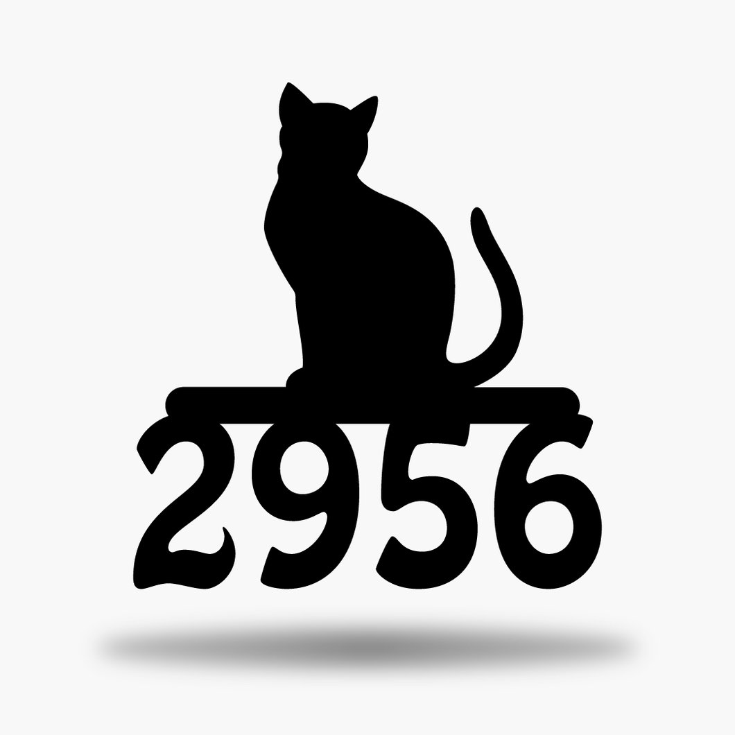 Cat Address Sign