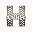 Load image into Gallery viewer, Chevron Monogram