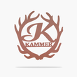 Load image into Gallery viewer, Deer Antler Monogram