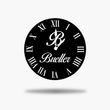 Load image into Gallery viewer, Family Name Initial Clock
