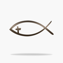 Load image into Gallery viewer, Fish Cross Sign