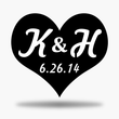 Load image into Gallery viewer, Heart Initials & Date Monogram