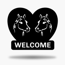 Load image into Gallery viewer, Horse Welcome Sign