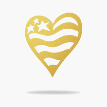 Load image into Gallery viewer, USA Heart Flag Sign