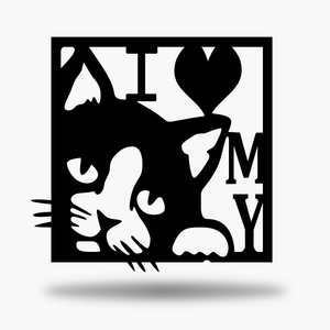 I Love My Cat Sign