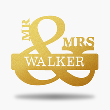 Load image into Gallery viewer, Mr. & Mrs. Monogram