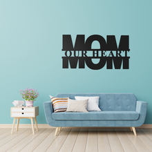 Load image into Gallery viewer, Mom Our Heart Sign