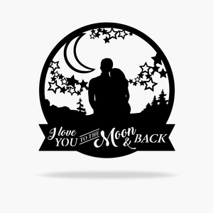 Moon & Back Love Sign