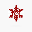 Load image into Gallery viewer, Personalized Snowflake Monogram