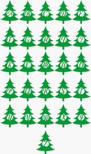 Load image into Gallery viewer, Christmas Tree Initial