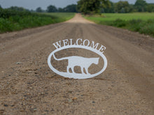 Load image into Gallery viewer, Cat Welcome Sign