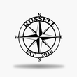 Load image into Gallery viewer, Nautical Compass Monogram