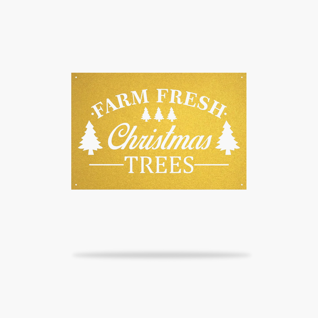 Fresh Christmas Trees Sign