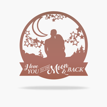 Load image into Gallery viewer, Moon & Back Love Sign