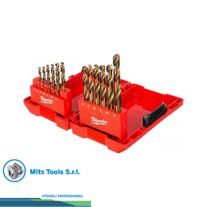 SET di 19 Punte metallo HSS-G - DIN 338 Milwaukee