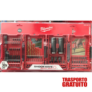 FANTASTICO ! KIT Inserti 62 Pz. MILWAUKEE