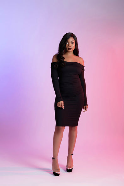 Marley Midi Dress | Black