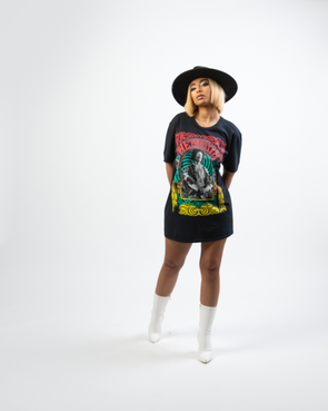 Hendrix T-shirt Dress | Black